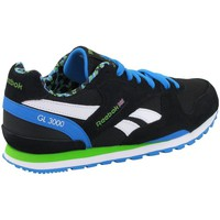 Shoes Boy Low top trainers Reebok Sport GL 3000 Black-Green-Blue