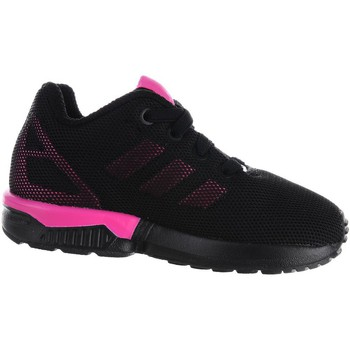 Shoes Girl Low top trainers adidas Originals ZX Flux EL I Black-Pink