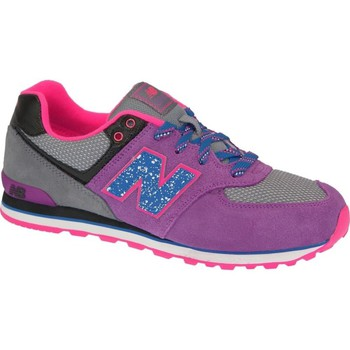 Shoes Girl Low top trainers New Balance KL574O5G Grey-Pink