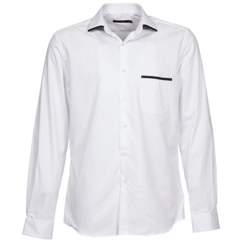 Clothing Men long-sleeved shirts Pierre Cardin ANTOINE White