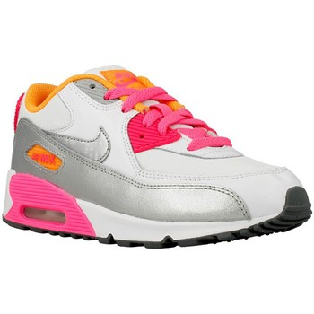 Nike  Air Max 90  girlss Childrens Shoes (Trainers) in White