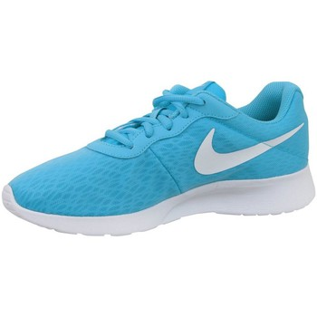 Shoes Women Low top trainers Nike Wmns Tanjun BR Light blue-White