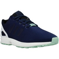 Shoes Men Low top trainers adidas Originals ZX Flux White-Navy blue-Celadon