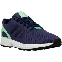 Shoes Women Low top trainers adidas Originals ZX Flux W Light Flash Green Navy blue-Celadon