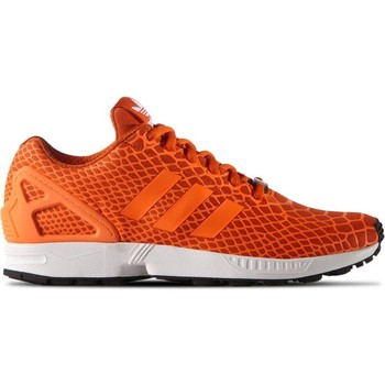 Shoes Men Low top trainers adidas Originals ZX Flux Techfit Black-Orange-White