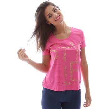 Clothing Women short-sleeved t-shirts Key Up S25G 0001 T-shirt Women Pink Pink