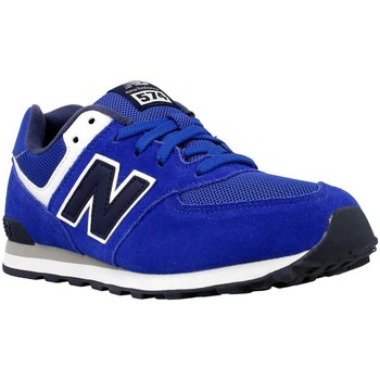 Shoes Girl Low top trainers New Balance KL574SUG Blue-Navy blue