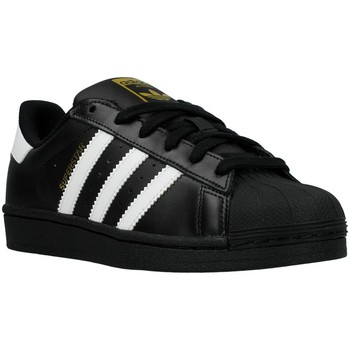 Shoes Boy Low top trainers adidas Originals Superstar Foundation J White-Black