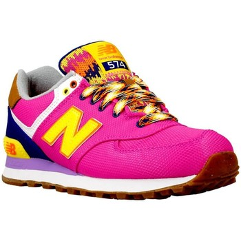 Shoes Women Low top trainers New Balance WL574 Navy blue-Pink-Yellow