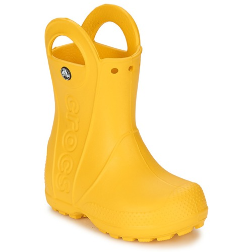 Shoes Children Wellington boots Crocs HANDLE IT RAIN BOOT KIDS Yellow