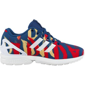 Shoes Women Low top trainers adidas Originals ZX Flux W White-Red-Blue