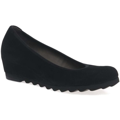 Shoes Women Flat shoes Gabor Request Womens Modern Wedge Court Shoes black