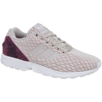 Shoes Women Low top trainers adidas Originals ZX Flux W White-Beige-Pink