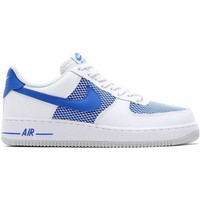 Shoes Men Low top trainers Nike Air Force 1 07 White-Blue