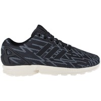 Shoes Men Low top trainers adidas Originals ZX Flux Weave Black-Graphite