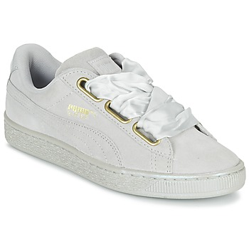 Shoes Women Low top trainers Puma BASKET HEART SATIN WN'S Grey