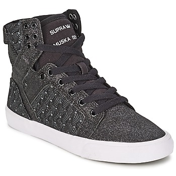 Shoes Women Hi top trainers Supra SKYTOP Black / White
