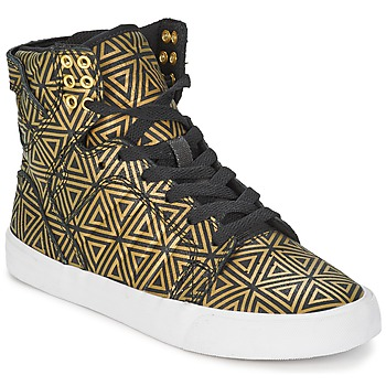 Shoes Women Hi top trainers Supra SKYTOP Gold / Black
