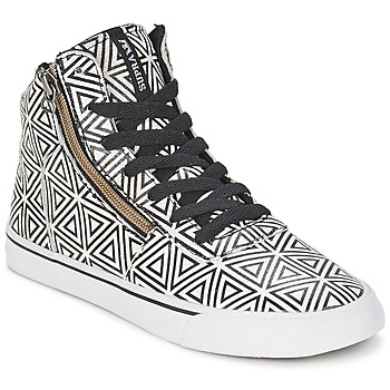 Shoes Women Hi top trainers Supra CUTTLER White / Black