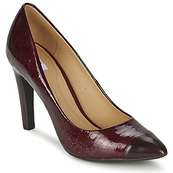 Shoes Women Heels Geox D CAROLINE BORDEAUX