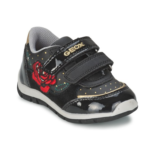 Shoes Girl Low top trainers Geox B SHAAX A Black