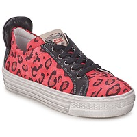 Shoes Girl Low top trainers Diesel JAKID Pink / Leopard