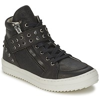 Shoes Girl Hi top trainers Diesel TREVOR Black / Studs