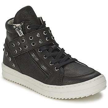Shoes Girl Hi top trainers Diesel TREVOR Black