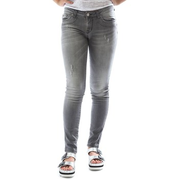 Clothing Women slim jeans Fornarina BER1I87D847OD Jeans Women Grey Grey