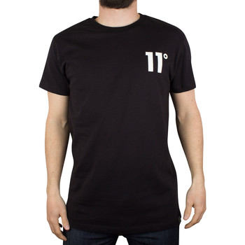 Image of 11 Degrees Men's Brand Carrier Logo T-Shirt, Black men's T shirt in black