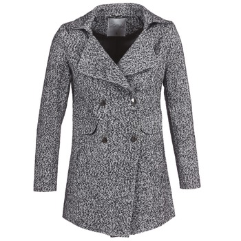 Clothing Women Coats Casual Attitude GRINIS Grey / Black