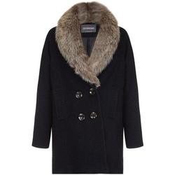 Clothing Women coats Anastasia - Fur Collar Womens Winter Coat Black