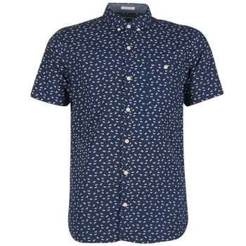Clothing Men short-sleeved shirts Tommy Jeans TIDURES Marine