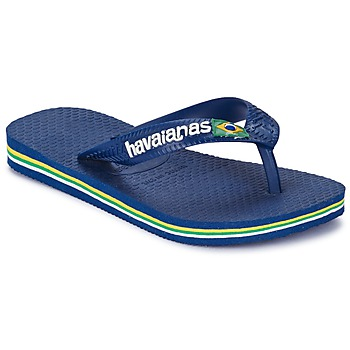 Shoes Children Flip flops Havaianas BRASIL LOGO Navy Blue