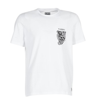 Clothing Men short-sleeved t-shirts Element ATTACK SS White