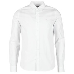 Clothing Men long-sleeved shirts Calvin Klein Jeans WILBERT White