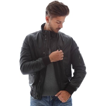 Clothing Men Jackets Geox M6422A T2243 Jacket Man Nero