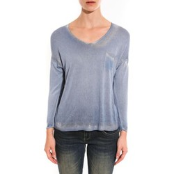 Clothing Women jumpers Barcelona Moda Pull See You Again Bleu Blue