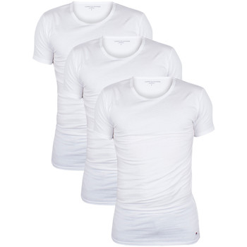 Clothing Men short-sleeved t-shirts Tommy Hilfiger Men's 3 Pack Premium Essentials T-Shirts, White white