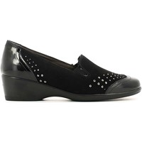Shoes Women Loafers Melluso R3046 Mocassins Women Black Black