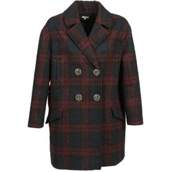 Clothing Women coats Manoush CABAN LAINE Marine / Bordeaux