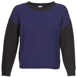 Clothing Women jumpers Manoush POINT DE RIZ Blue / Black