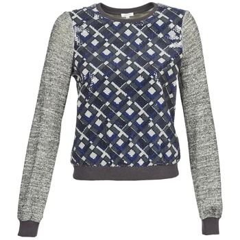 Clothing Women sweaters Manoush MOSAIQUE Grey / Black / Blue
