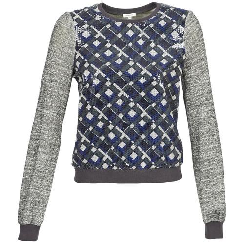 Clothing Women Sweaters Manoush MOSAIQUE Grey / Black / Blue
