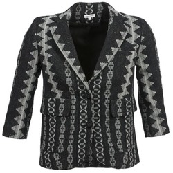 Clothing Women Jackets / Blazers Manoush TAILLEUR Grey / Black