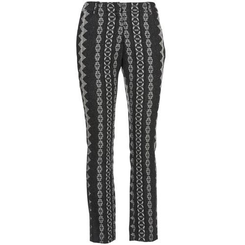 Clothing Women 5-pocket trousers Manoush TAILLEUR Grey / Black