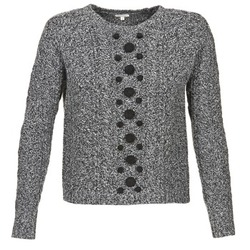 Clothing Women jumpers Manoush TORSADE Grey / Black