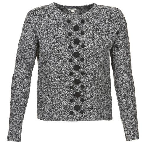 Clothing Women Jumpers Manoush TORSADE Grey / Black
