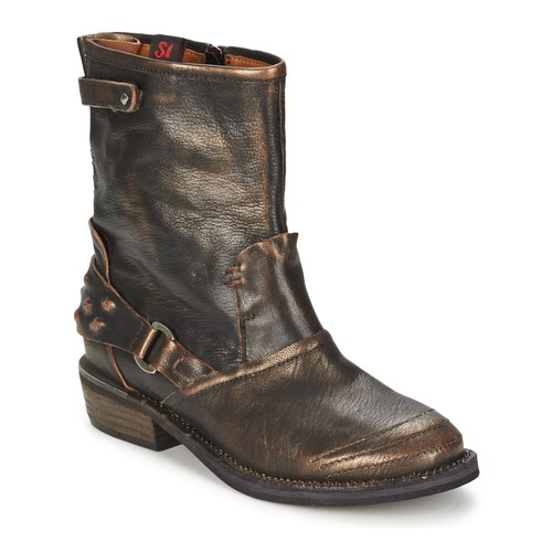 Shoes Women Mid boots Sans Interdit HASHLEY Cinnamon