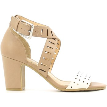 Shoes Women Sandals Luca Stefani 120403 High heeled sandals Women Beige Beige